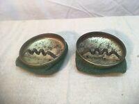 Vintage 1940s 50s Pair of Bean Bag ashtray Mid Century