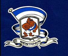 NEWTOWN BLUEBAGS Vinyl Decal Sticker RETRO RUGBY LEAGUE NRL JETS BLUE BAGS !!!!