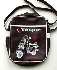 Vespa Paggio Umhängetasche, Retro Messenger Crossbag Kunstleder dunkelbraun, TOP