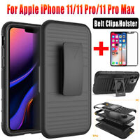Case For Apple iPhone 11 Pro Max Shockproof Armor Clip Holster Stand Hard Cover
