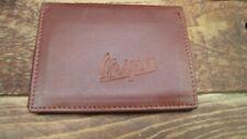 licence Vespa logo Tan Leather wallet credit card size ID holder vs933