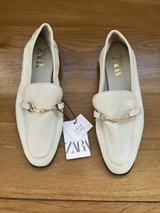 Zara Leather Loafers Womens Shoes Euro 38 Size 5.5 New