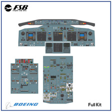 Boeing 737-NG Flight Simulator Vinyl Adheasive FULL Panel KIT Flight Deck sim