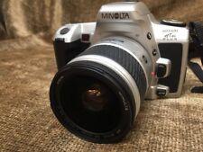 Minolta Maxxum HTsi Plus Film 35mm Camera &AF Zoom 28-80mm Lens Partially Tested