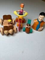 4 Flintstones Movie Vintage 1990s McDonalds Happy Meal Toys.