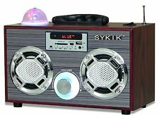 Sykik SP2021BT Mini Bluetooth Boombox Radio Rechargeable Portable FM Radio