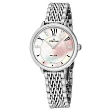 Eterna Women's Eternity Pink Dial Stainless Steel Quartz Watch 2800.41.76.1743
