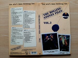 THE ROLLING STONES – ''FILES / YOU AIN'T SEEN NOTHING YET / VOL. 2'' - 4 DVD