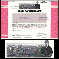 Rouge Industries 2000 Stock Certificate
