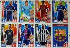 MATCH ATTAX 2017 / 18 UEFA CHAMPIONS LEAUGE Trading Card Base set of 336 topps