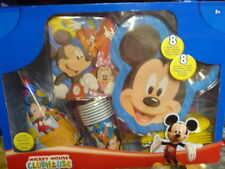 2 disney mickey mouse birthday party kit 8 plates cups hats napkins utensils