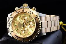 Invicta Men 47mm Pro Diver Gold Plated Chronograph 200M Diver Bracelet Watch