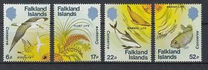 Falkland Inseln  415 - 18  Naturschutz  Fische  Vögel  Pflanzen   **  (mnh)