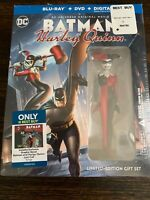 Batman & Harley Quinn (BLU-RAY+DVD) LIMITED EDITION GIFT SET With Novel! SEALED