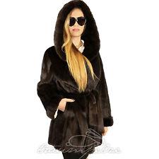 Braun saga Mink fur coat visón abrigo chaqueta nerzjacke abrigo vison visone норка XL