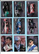 1996 Flair Autograph Nascar Lot(21) Wallace, Childress, Hendrick, Andretti,