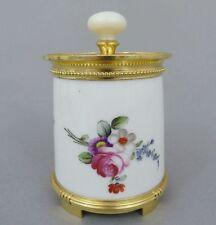 Bointaburet Paris, Deckelgefäß Porzellan und Silber vergoldet, 19. Jh., Minerva