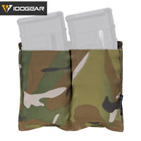 IDOGEAR Tactical 5.56 Mag Pouch Fast Draw MOLLE Mag Carrier Carrier Double Camo
