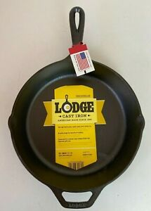 Lodge Cast Iron Frying Pan Round Skillet Foundry Seasoned Oven Safe 26cm 10 Inch