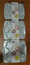 (3) NEW WILTON BLOSSOM POPS aluminum COOKIE cake pans flower baking Easter party