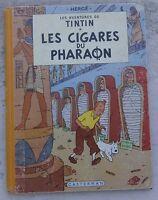 Tintin Les Cigares du Pharaon B14 EO couleurs Franç 1955 Hergé Très beau cahier