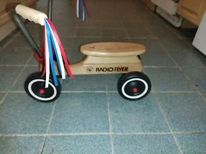 Rare Vintage Radio Flyer Kids Ride On Maple Wooden Scooter