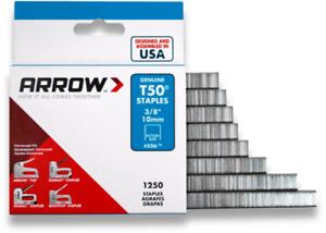 GENUINE ARROW T50 HEAVY DUTY STAPLES (PACK OF 1250) 6, 8, 10, 12, 14mm NEW