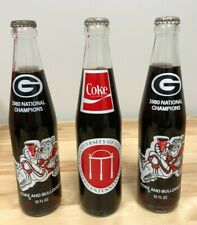 2 Georgia Bulldogs 1980 National Champions and 1 Bicentennial 10 Oz Coca Cola