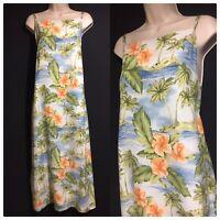TOMMY BAHAMA Pure Silk Maxi Long Slip Dress Holiday Cruise Beach HAWAII UK 14