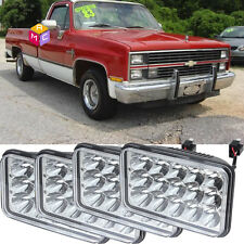 4pcs Crystal Clear Sealed Beam LED Projector Headlights - CHEVY PICK UP 81-87