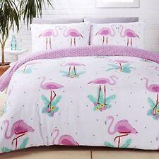 Rapport Housse de couette Motifs Flamants Roses en coton Polyester Multicolor