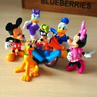 1 Set of 6 Disney Mickey Minnie Donald Daisy Goofy Pluto Figures Toy Decor 7-9cm