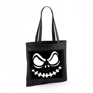 SCARY FACE Cotton Tote Bag Shopper Birthday Present Gift Novelty Halloween