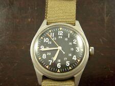Benrus Vietnam War 1966 US Military 17J Wrist Watch DTU-2A/P Nato Strap Hack Run