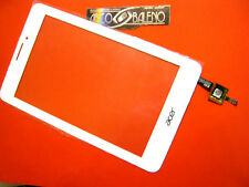 "P1 VETRO+TOUCH SCREEN per TABLET ACER A1-713 A713 7"" BIANCO DISPLAY VETRO ICONIA"