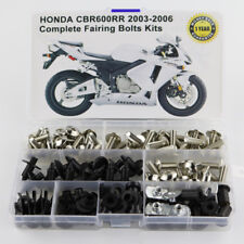 For Honda CBR600RR 2003 2004 2005 2006 Complete Fairing Bolts Screws Silver