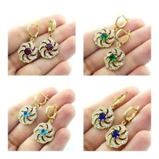 Turkish Jewelry Womens Dangle 14k Gold Plated 925 Sterling Silver Earrings Gifts