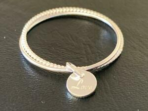 925 Sterling Silver Disc Love Ring Stacking Stack Twist 2 Band Sz 5 6 7 8 9 10