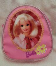 Vintage Mattel Barbie Pink w/ Yellow Flowers Mini Backpack Key Chain - Pyramid