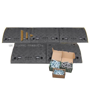 2.5M Driveway Ramp Kit *50mm* - ALL BLACK (5 mid sections, NO ENDS + fixings)