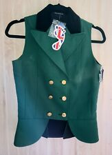 NEW Equetech Size 8 Green Waistcoat