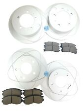 Full Set Front&Rear Brake Rotors+Ceramic Brake Pads For Mitsubishi, Eagle