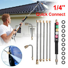 More details for 4000psi igh pressure washer rod cleaning lance extension cleaning tool 6 nozzles