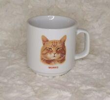 Vintage Morris the Cat Coffee Mug by Papel 9 Lives Advertising, White Mug; Orang