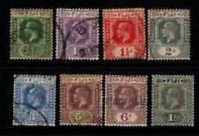 Fiji 1922 1929 King George V selection to 1/- SG229, 231-34, 236-238 Used