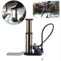 Mini High Pressure Bicycle Car Basketball Tire Tyre Air Pump Inflator Foot Pump