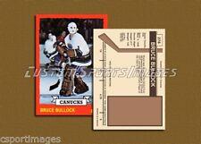 Bruce Bullock - Vancouver Canucks - Custom Rookie Hockey Card  - 1972-73