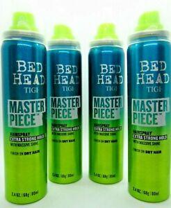Tigi Bed Head Masterpiece Hairspray Extra Strong Hold Massive Shine travel x4