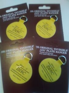 """Disc plate hanger  Co Invisible Disc Adhesive  medium Plate Hanger Set 4 - 2"""".."""