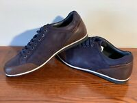 Men Saddlers Lace Up Leather Upper Shoes UK Sizes 6-13 EU 40-47 Navy/Brown BNIB